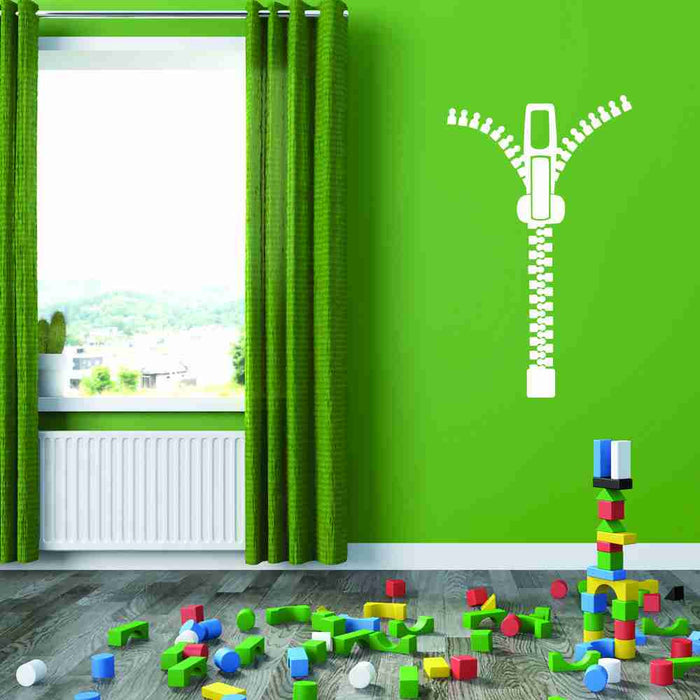 Zipper Wall Decal