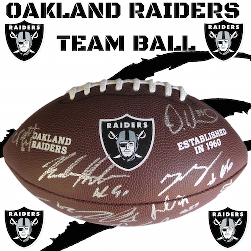 Oakland Raiders authentic team ball