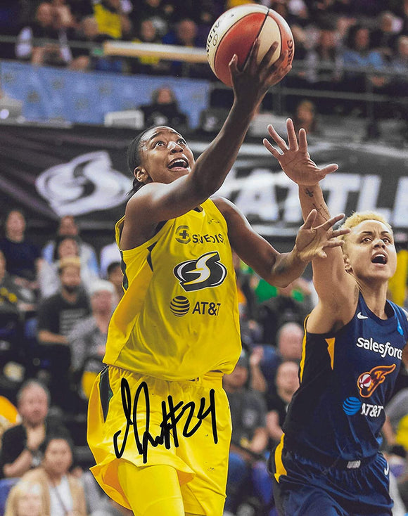 Jewell Loyd Seattle Storm signed basketball 8x10 photo COA proof.