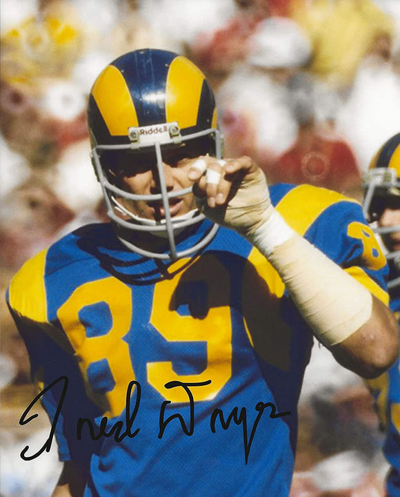 Fred Dryer Los Angeles Rams signed autographed 8x10 photo proof COA
