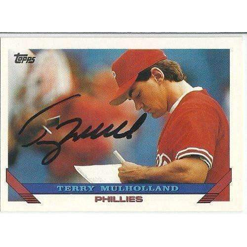 1993, Terry Mulholland, Philadelphia Phillies, Signed, Autographed, Topps Baseball Card, Card # 555,