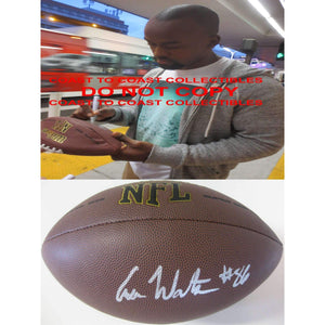 Asa Watson Dallas Cowboys, New England Patriots, NC State signed, autographed football - COA