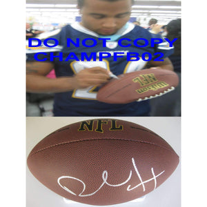 Ryan Mathews, Philadelphia Eagles, San Diego Chargers, Fresno State Bull Dogs, Signed, Autographed, NFL Football, a Coa with the Proof Photo of Ryan Signing Will Be Included with the Football
