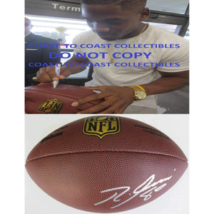 Ricardo Louis, Cleveland Browns, Auburn Tigers, Signed, Autographed, NFL Duke Football, a COA with the Proof Photo of Ricardo Signing Will Be Included
