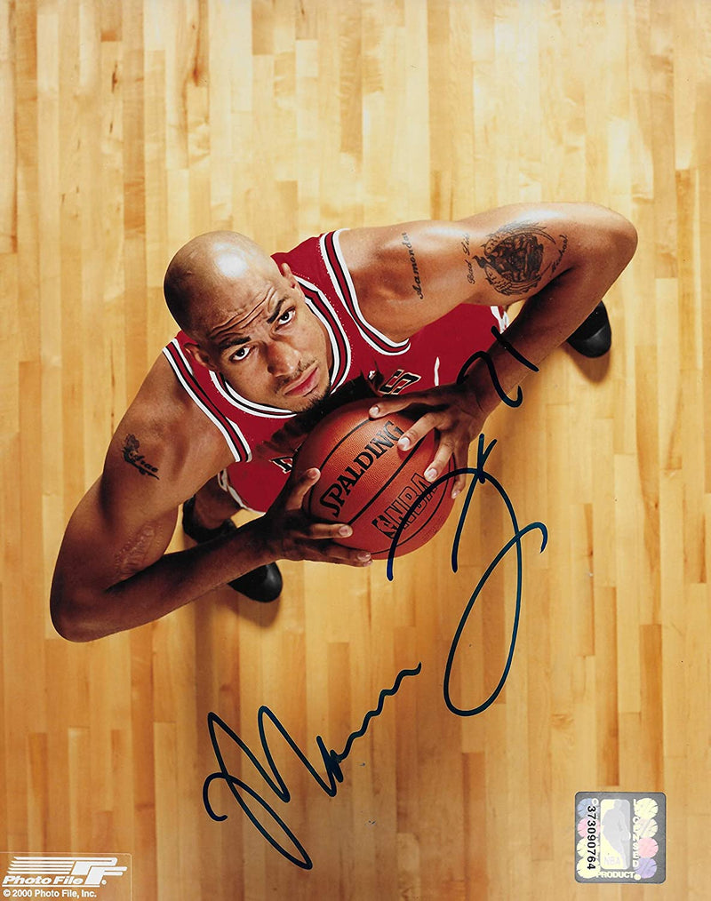 Marcus Fizer signed Chicago Bulls basketball 8x10 photo COA
