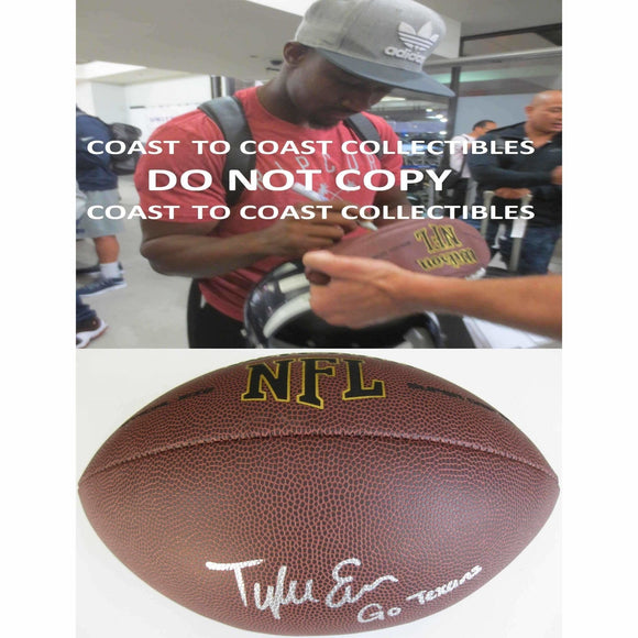 Tyler Ervin, Houston Texans, San Jose State, Signed, Autographed, NFL Football, A COA with the Proof Photo of Tyler Signing Will Be Included