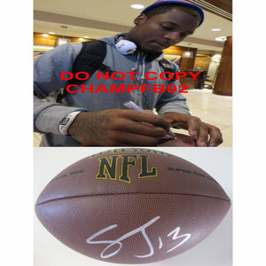 Steve Johnson, San Diego Chargers, San Francisco 49ers, Signed, Autographed, NFL Football, a COA with the Proof Photo of Steve Signing the Football Will Be Inlcuded