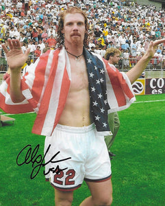 Alexi Lalas USA National team signed autographed soccer 8x10 photo proof COA.