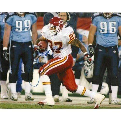 Larry Johnson, Kansas City Chiefs, Penn State, Signed, Autographed, 8x10 Photo, Coa, Rare Hard Photo to Find
