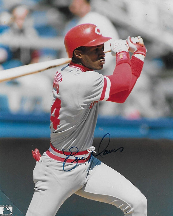 Eric Davis Cincinnati Reds signed, autographed baseball 8x10 photo, proof COA