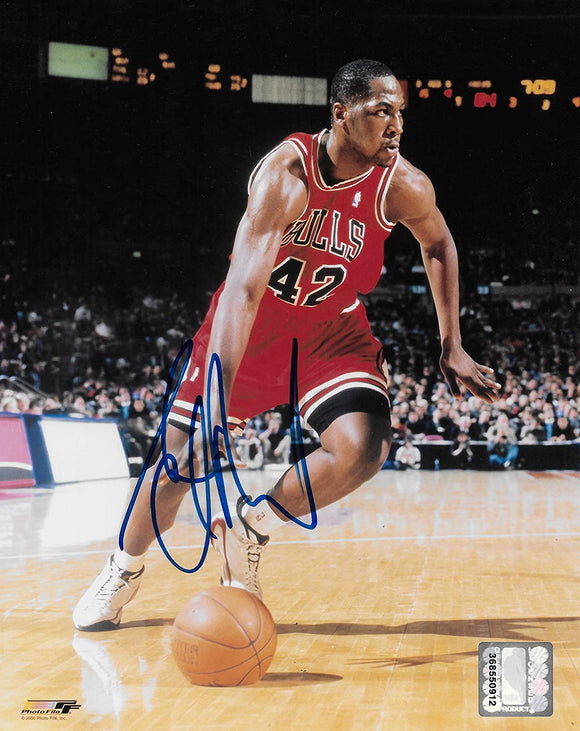 Elton Brand signed Chicago Bulls basketball 8x10 photo COA