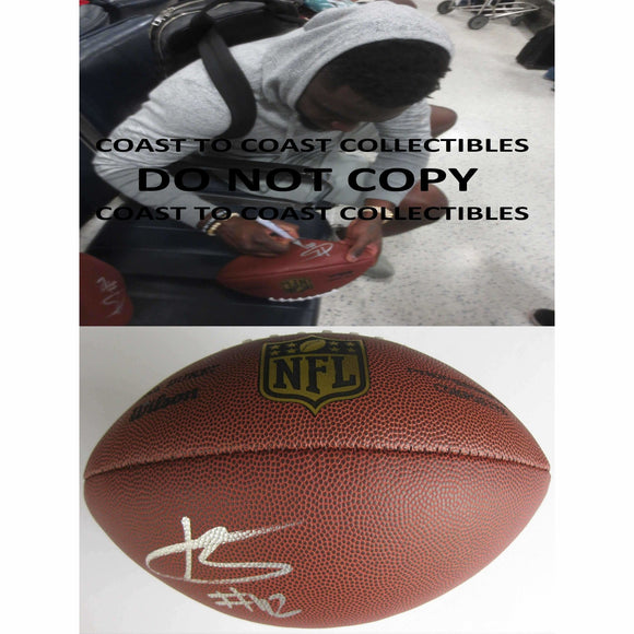 Karl Joseph, Oakland Raiders, West Virginia, Signed, Autographed, NFL Duke Football, a COA with the Proof Photo of Karl Signing Will Be Included