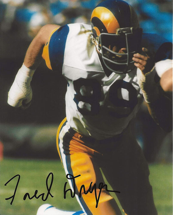 Fred Dryer Los Angeles Rams signed autographed 8x10 photo proof COA.
