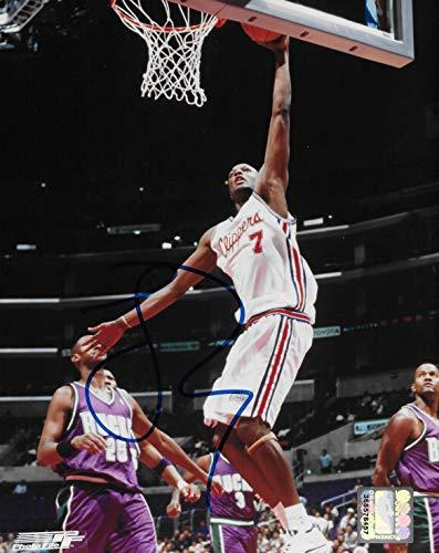 Lamar Odom signed Los Angeles Clippers basketball 8x10 photo COA.