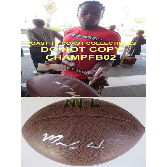 Markus Wheaton, Pittsburgh Steelers, Oregon State Beavers, Signed, Autographed, NFL Football, a COA with the Proof Photo of Markus Signing Will Be Included with the Football