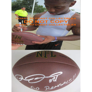 Darqueze Dennard Cincinnati Bengals, Michigan State signed, autographed NFL football - COA and proof