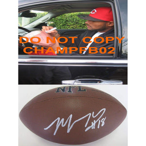 Louis Murphy, New York Giants, Oakland Raiders, Flordia Gators, Signed, Autographed, NFL Football, a COA with the Proof Photo of Louis Signing Will Be Included