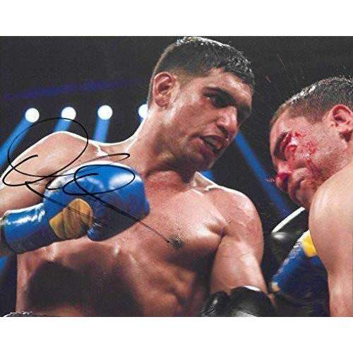 Amir Khan, World champion Boxer, signed, autographed, 8x10 photo - COA and proof photo included