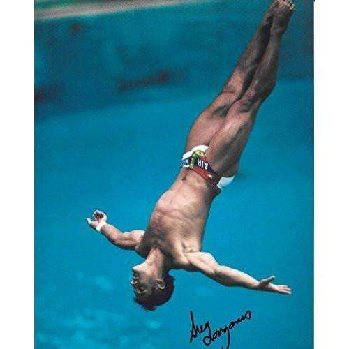 Greg Louganis, USA Olympic Diver, Signed, Autographed, 8X10 Photo, a Coa with the Proof Photo of Greg Signing Will Be Included-