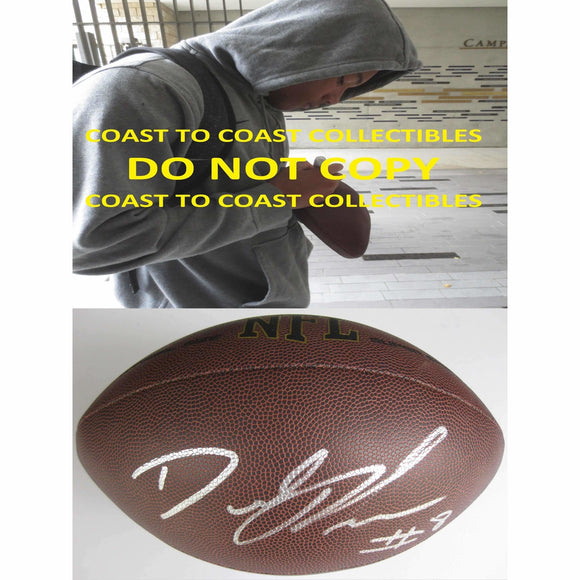 Demetris Robertson California Golden Bears signed, autographed NFL football - COA and proof