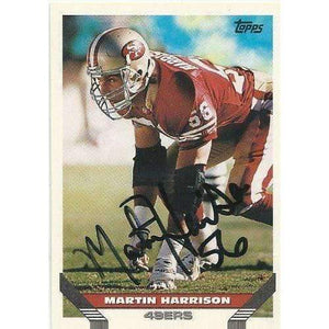 1993, Martin Harrison, San Francisco 49ers, Signed, Autographed, Topps Football Card, Card #333,