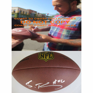Shane Ray, Denver Broncos, Missouri, Signed, Autographed, NFL Duke Football, a COA with the Proof Photo of Shane Signing Will Be Included