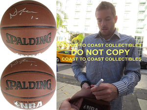David Lee Golden State Warriors Knicks signed autographed NBA basketball proof