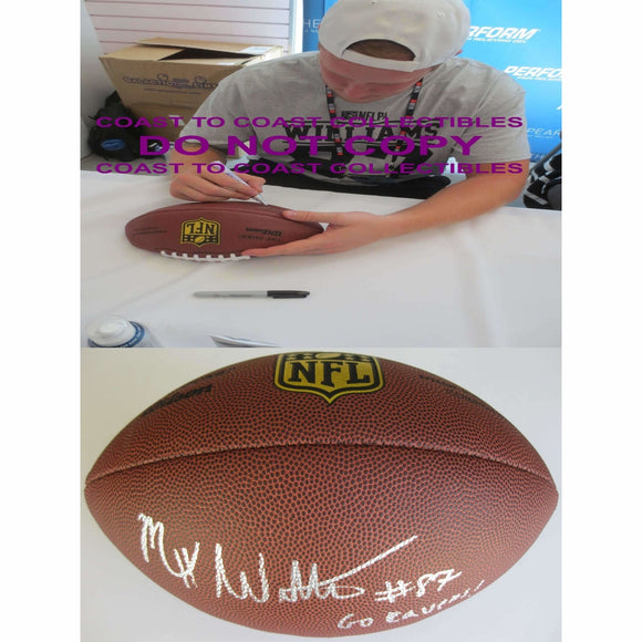 Maxx Williams Baltimore Ravens, Minnesota, Signed, Autographed, NFL Duke Football, a COA with the Proof Photo of Maxx Signing Will Be Included