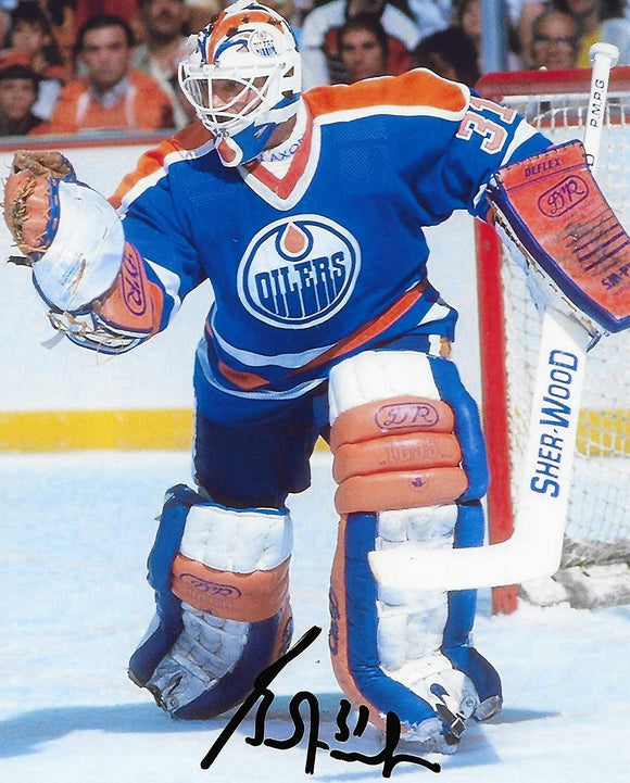 Grant Fuhr Edmonton Oilers signed autographed 8x10 Photo COA proof
