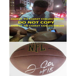 Josh Doctson, Washington Redskins, TCU, Signed, Autographed, NFL Football, a COA with the Proof Photo of Josh Signing Will Be Included with the Football-