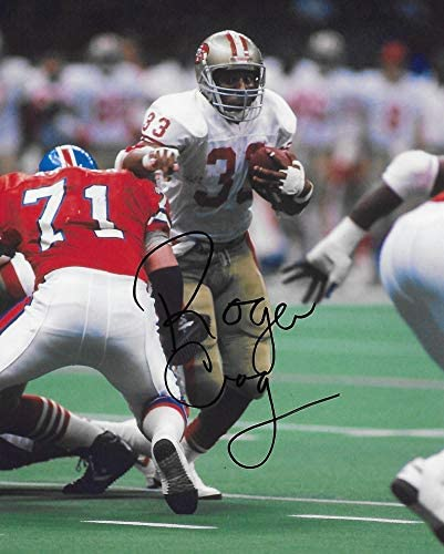 Roger Craig San Francisco 49ers signed autographed football 8x10 photo proof COA,