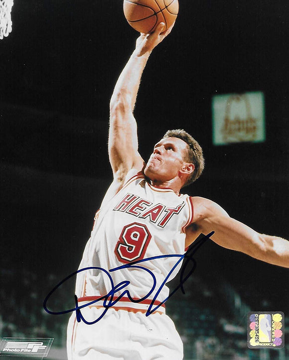 Dan Majerle Miami Heat, signed, autographed, Basketball 8x10 photo, Coa with proof