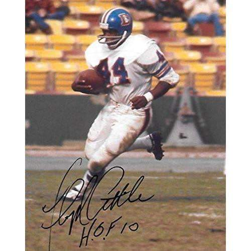 Floyd Little, Denver Broncos, Syracuse, Signed, Autographed, 8X10 Photo, a COA with the Proof Photo of Floyd Signing Will Be Included