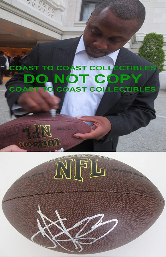 Troy Vincent Philadelphia Eagles Dolphins Bills signed NFL football COA proof