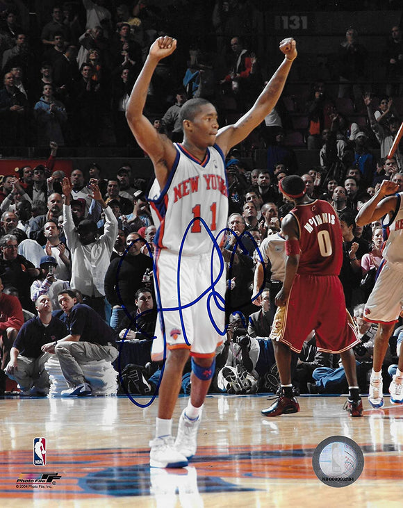 Jamal Crawford signed New York Knicks basketball 8x10 photo COA