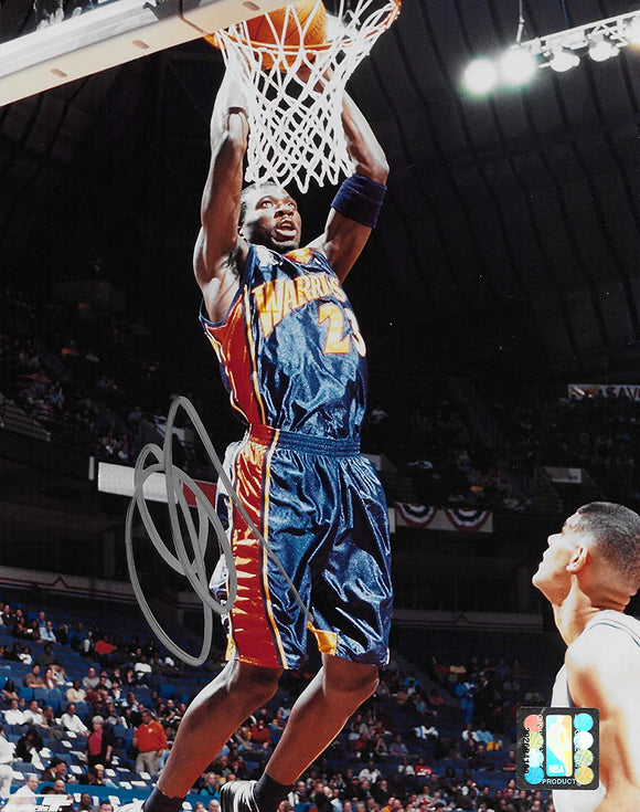 Jason Richardson signed Golden State Warriors basketball 8x10 photo COA