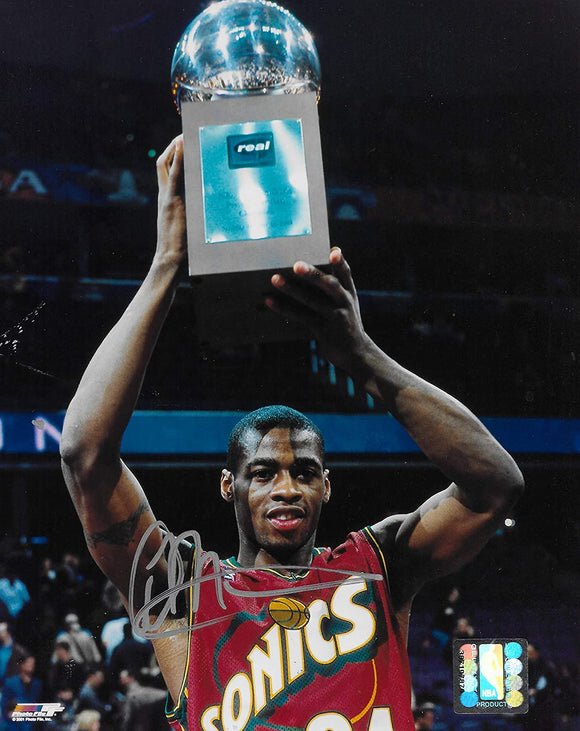 Desmond Mason Seattle Supersonics signed basketball 8x10 photo COA