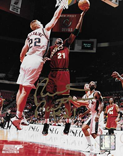 Ruben Patterson Seattle Supersonics signed basketball 8x10 photo COA