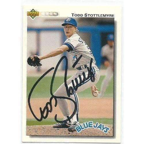 1991, Todd Stottlemyre, Toronto Blue Jays, Signed, Autographed, Upper Deck Baseball Card, Card # 371,