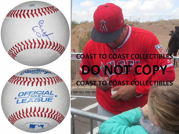 Eduardo Paredes Los Angeles Angels signed autographed baseball COA exact proof