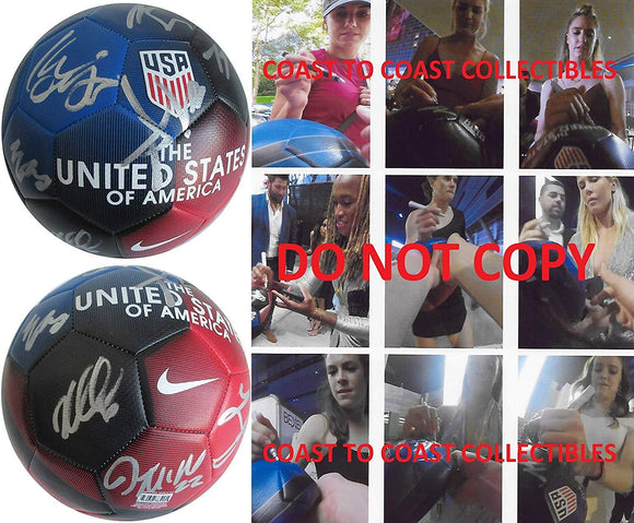2019 USA Womens National team signed, autographed, USA soccer ball,proof COA