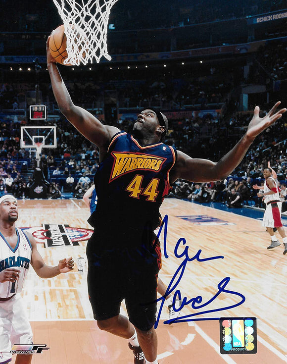 Marc Jackson signed Golden State Warriors basketball 8x10 photo COA