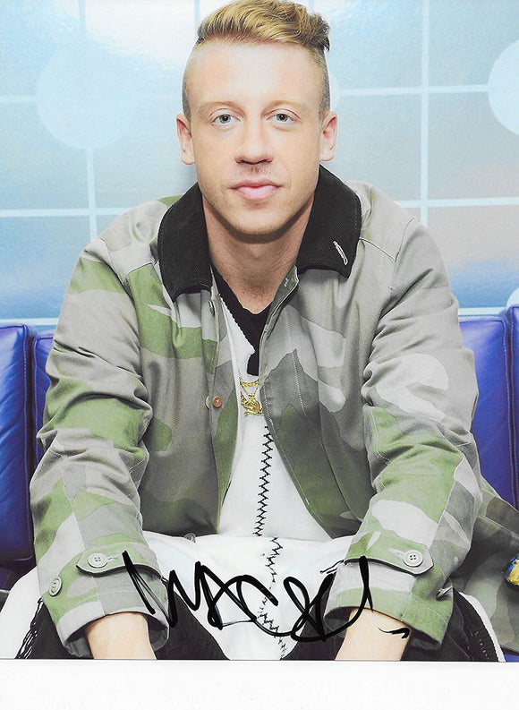 Macklemore autographed 8x10 photo Thrift shop Rapper COA exact proof STAR