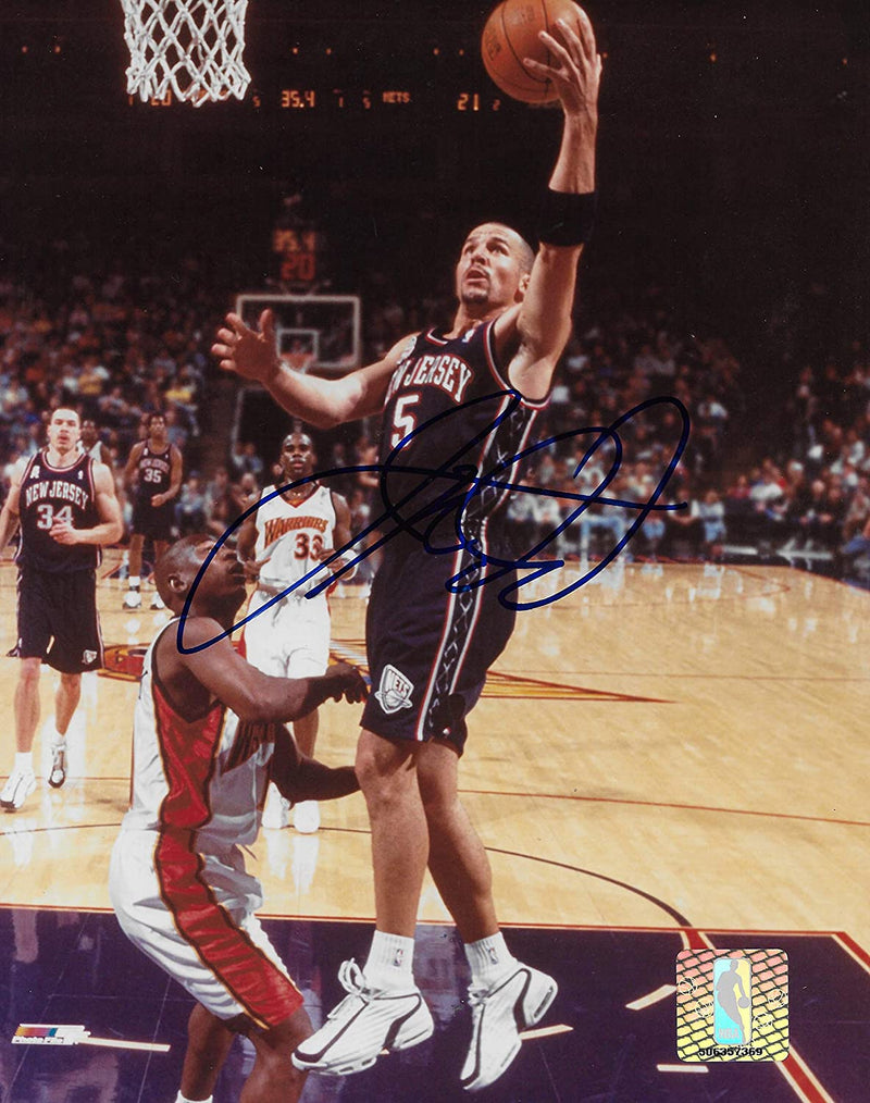 Jason Kidd New Jersey Nets signed basketball 8x10 photo proof COA