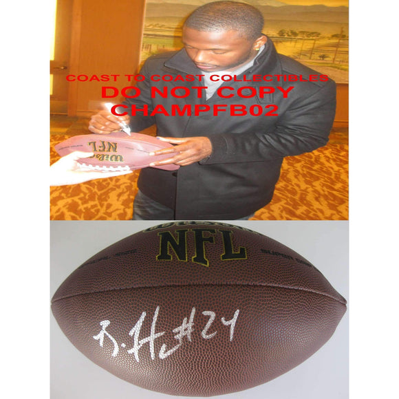 Brandon Flowers San Diego Chargers, Kansas City Chiefs, Virginia Tech signed, autographed football