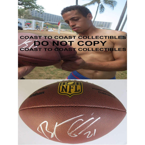 Brent Grimes, Miami Dolphins, Atlanta Falcons, Signed, Autographed, NFL Duke Football,