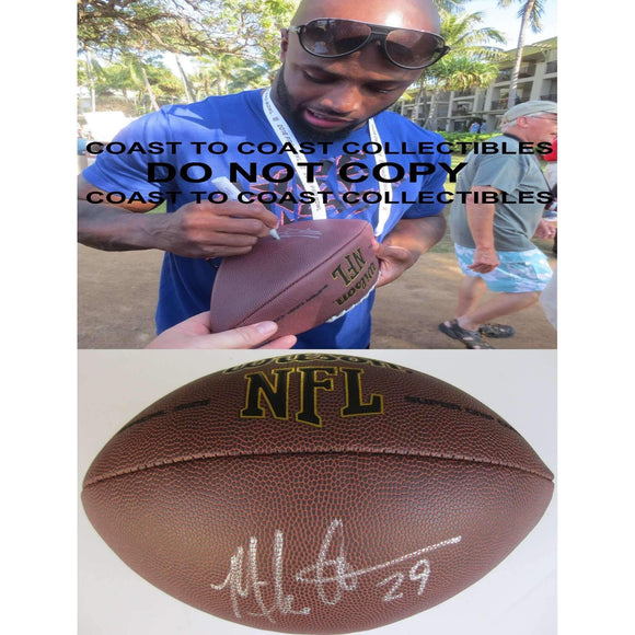 Mike Adams Indianapolis Colts, 49ers, Browns, Broncos, Signed, Autographed, NFL Football , a COA with the Proof Photo of Mike Signing Will Be Inlcuded