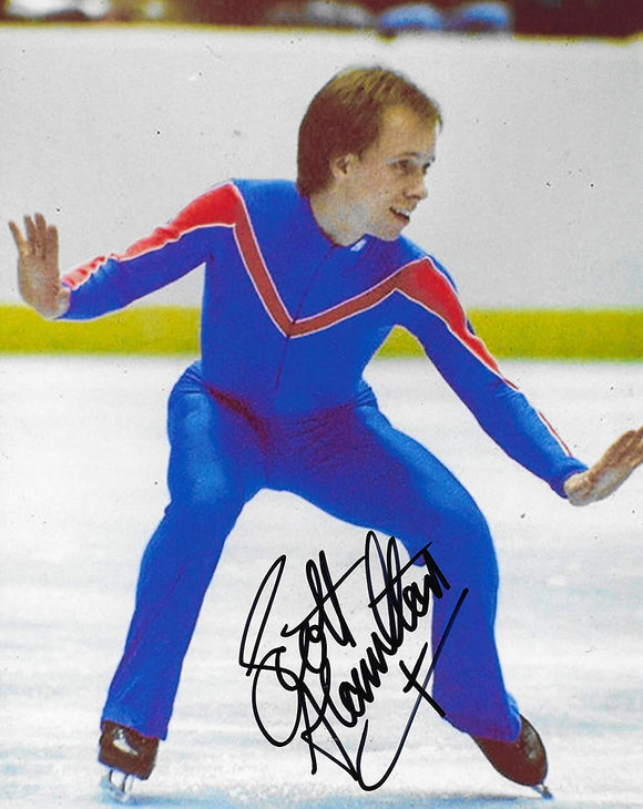 Scott Hamilton USA gold Olymic figure skater signed 8x10 photo proof COA