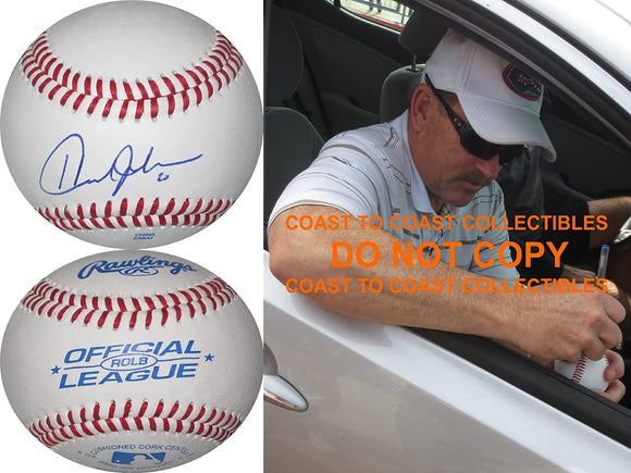 Howard Johnson New York Mets Detroit Tigers signed autographed baseball proof
