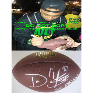 Darren Carrington, Oregon Ducks, Signed, Autographed, Football, a COA with the Proof Photo of Darren Signing Will Be Included with the Football